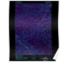 USGS Topo Map Oregon Three Lynx 281818 1985 24000 Inverted Poster