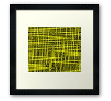 QUANTUM FIELDS ABSTRACT [1] YELLOW [1]  Framed Print