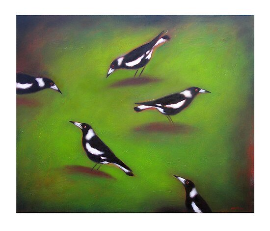 Five Magpies by Lloyd Foye