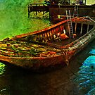 Rusting boat, Gravesend, Kent, UK by buttonpresser