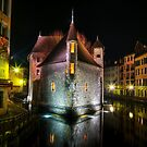 Annecy - Palais de l'Isle at night by Patrick Morand