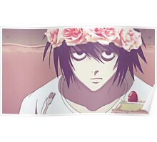 Death Note L with Flower Crown Poster