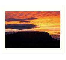 Mt Roland Sunset Art Print