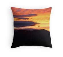 Mt Roland Sunset Throw Pillow