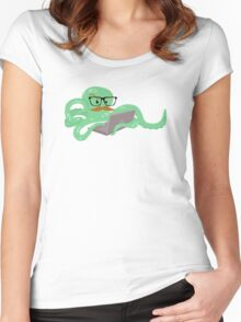 The Mustachioed Internet Octopus Women's Fitted Scoop T-Shirt