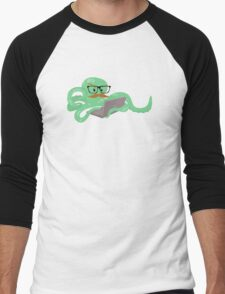 The Mustachioed Internet Octopus Men's Baseball ¾ T-Shirt