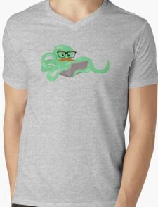 The Mustachioed Internet Octopus Mens V-Neck T-Shirt