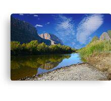 Reflections- Santa Elena Canyon Canvas Print