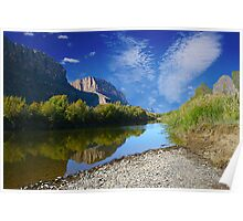 Reflections- Santa Elena Canyon Poster