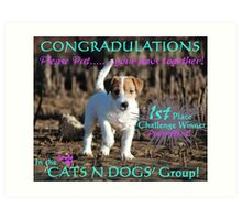 Cats and Dogs Challenge Banner Art Print