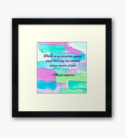 Love Maya Framed Print