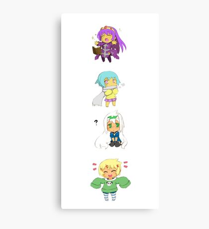 Cute Chibi Collection Canvas Print