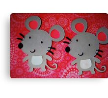 Two mice Canvas Print