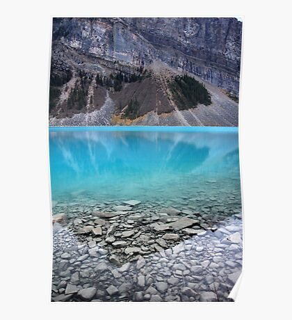 Lake Louise reflection in Banff National park Poster