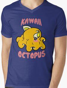 Kawaii Octopus Mens V-Neck T-Shirt
