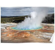 Grand prismatic hot springs in Yellowstone National park Poster