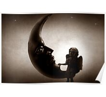 Angel Sitting on the Moon Poster