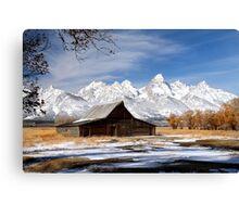 Iconic barn in Grand Teton National park Canvas Print