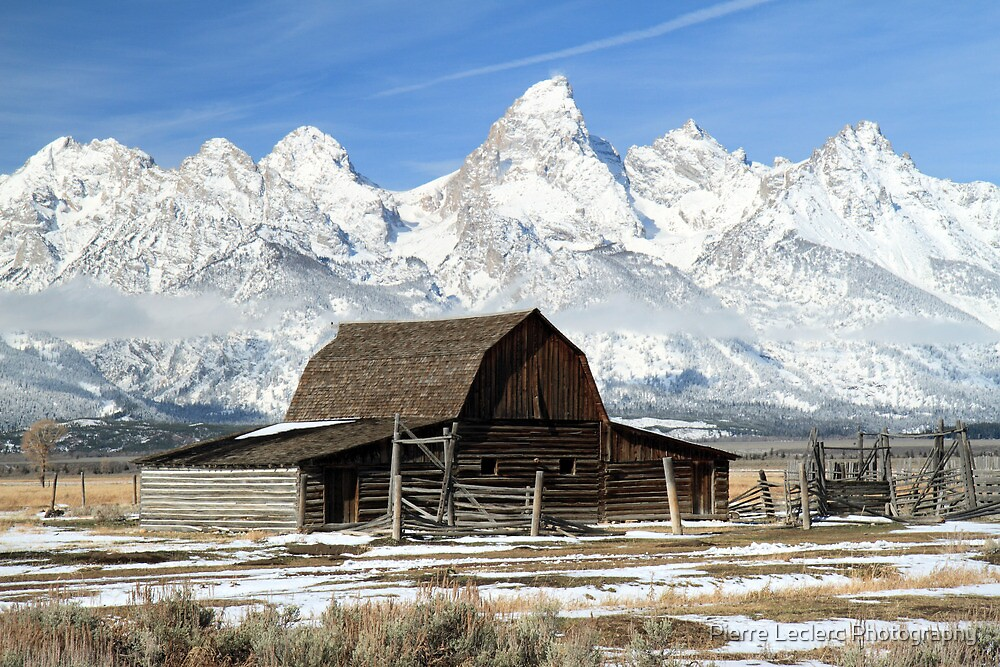Famous barn in the Grand Tetons by Pierre Leclerc Photography