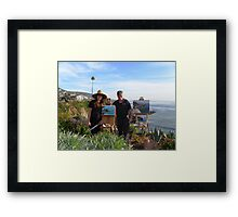 Laurel & I at Key Hole Arch Laguna Framed Print
