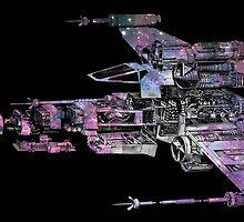 Schematic X-Wing Nebula Shirt by awakenedstream