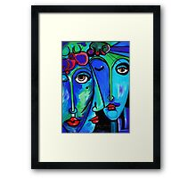 PICASSO PAINTING BY NORA  TWINS Framed Print