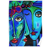 PICASSO PAINTING BY NORA  TWINS Poster