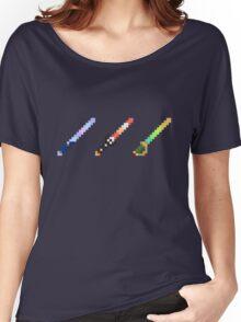 Disneyland Minecraft Glow Swords Women's Relaxed Fit T-Shirt