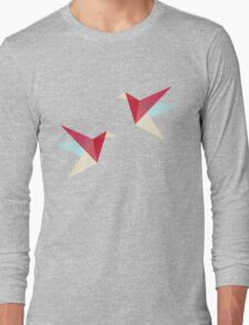 Correct Paper Cranes  Long Sleeve T-Shirt