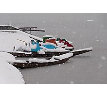 Snowstorm Time Photographic Print
