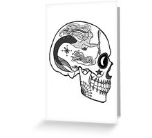Aviation Mechanic - Day of the Dead Black and White Greeting Card