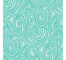 Swirly in Mint Photographic Print