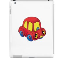 Red toy little car iPad Case/Skin