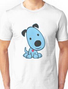 Blue Doggy Unisex T-Shirt
