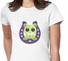 Teddy Bear - Lucky Green Womens Fitted T-Shirt