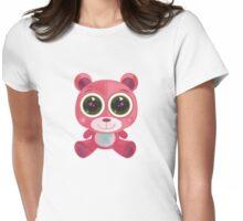 Teddy Bear - Star Eye Pink Womens Fitted T-Shirt