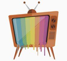 Rainbow TV Baby Tee