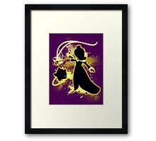 Super Smash Bros. Yellow/Gold Rosalina Silhouette Framed Print