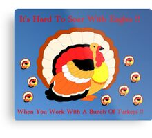 Working with Turkeys !! Metal Print