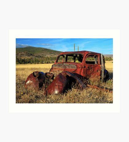 Old Car At Susanville Ranch Art Print