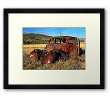 Old Car At Susanville Ranch Framed Print