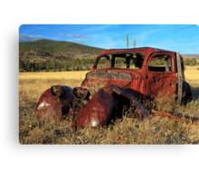 Old Car At Susanville Ranch Canvas Print