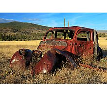 Old Car At Susanville Ranch Photographic Print
