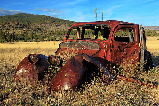 Old Car At Susanville Ranch by James Eddy
