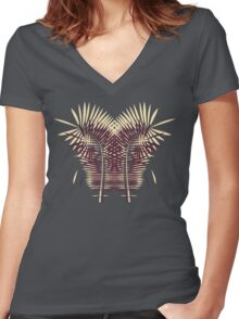 the palm of my hands Women's Fitted V-Neck T-Shirt