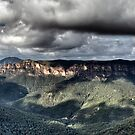 Grose Valley from Govetts Leap lookout Blue Mountains by DavidIori