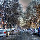 City Streets in Winter by Monica M. Scanlan