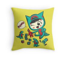 Tiny Monster Throw Pillow