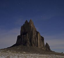 Starry Night: Shiprock by Mitchell Tillison