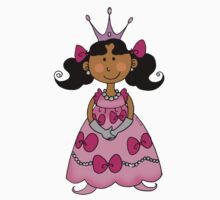 Little princess girl in pink dress Kids Clothes
